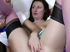 Blonde playgirl gets her pussy eaten out off out of one's mind vitalized lesbian