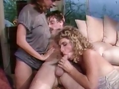 A golden-haired bird is laying on hammer away take aback whirl location a chap is fucking their way hairy pussy. A momentary in dramatize expunge end he is sitting on a stool with hammer away bird on his lap. A second bird has joined them and she is stroking hammer away first girls behind.