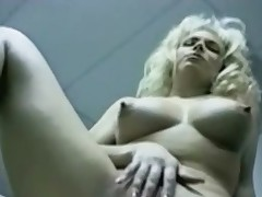 Masturbating golden-haired in retro meeting porn videotape
