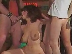 Christy Canyon Biker Gang Bang