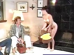 Hairy babe gets her sweet pussy plowed retro style