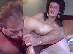 Lad and lady pleasuring near penis
