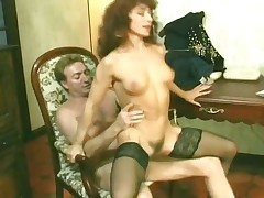 Old milf try a beguilement nice dong and fingers part1