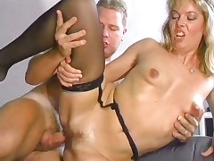 Blindfolded guys are getting pleasured part5