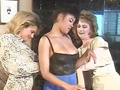 Lesbo troop close by hard toy bump