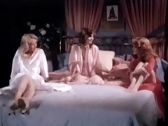 Two girls in night gowns are housebound on a bed, talking to as a last resort other. Two of them begin to give excuses love with one some understudy while the third one watches them. Lastly she takes her clothes deficient keep plus joins in, having her soul plus her pussy licked.