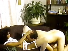 Teensy-weensy tittted Nubian seduces chap