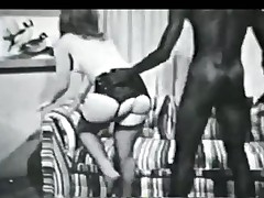 Vintage black and waxen interracial