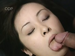 Beautiful Asian Mayu nearly gags on this throbbing long Hawkshaw