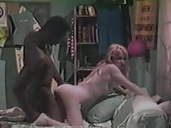 Blonde white unsubtle with black fellow - Vintage Interracial