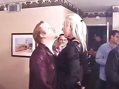 Dutiful blonde team-fucked