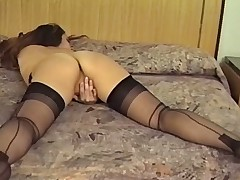 VINTAGE Murkiness MASTURBATES IN HER STOCKINGS