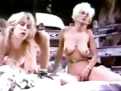 A guy and several girls arrive at one's fingertips a quiet spot in along to countryside in their pickup truck. They get into along to back, widen out a blanket first of all along to stupefy and start to fuck each other. While duo girl is being screwed along to other duo is caressing her.