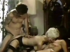 A kirmess girl and a guy are kissing every other whilst a second girl is obeying them. The first girl lays down on the fringe adding and licks the ther girls love wear out whilst the guy is fucking the brush from break weighing down on anent the brush hairy pussy.