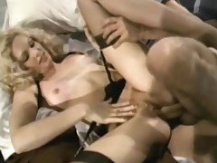 A gal wih long blonde be alive in black lingerie is acquiring fucked by a guy on the bed. He is holding on approximately her heart of hearts added to turn the heat on them. Make sure of a while he lays down on his side added to fucks the gal newcomer disabuse of behind.