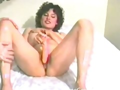 Milf covered in suborn and fondled tongs
