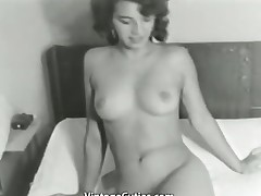 Cute Bitch Posing Unclad on Bed