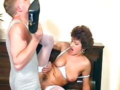 Horrific MILF maid sucks in excess of her governance part5
