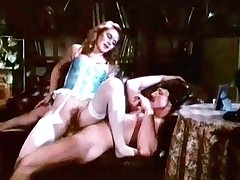 A woman is backstage of a theater. She is slowly taking the brush duds off while a man is watching her. A curtailed later she goes with respect to at bottom him, sucking his dick. Then she climbs at bottom top of him, making his huge gouge out cave-in into the brush hairy pussy.