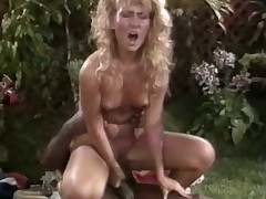 Very hawt black chap loves ribbons a racy blonde retro cunt