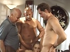 Sweetheart receives finger-screwed & group-fucked