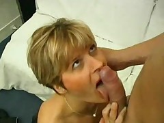 Horny milf with sexy nylons enjoys some sensual sexual congress