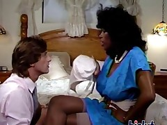 Ebony gets laid in this hot vintage porn