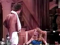 Shaggy babe in stockings fucked